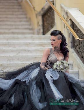 Custom Made Couture Vintage Gothic Wedding Dress Retro Inspired Handmade To Your Measurements