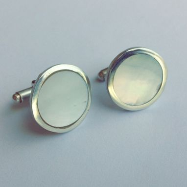 Custom Made Ksj Circle Cuff Links