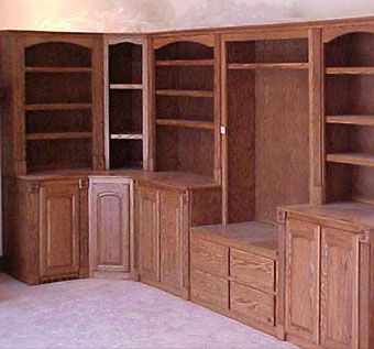 Custom Made Oak Wall Unit
