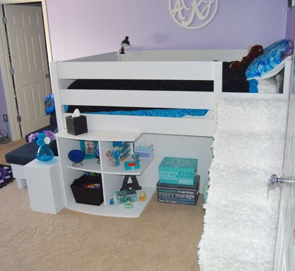 Custom Made Loft Bed With L-Sofa And Desk With Storage