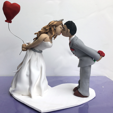 Custom Made Kissing Bride And Groom