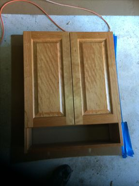 Custom Made Cherry Bathroom Wall Cabinet And Mirror