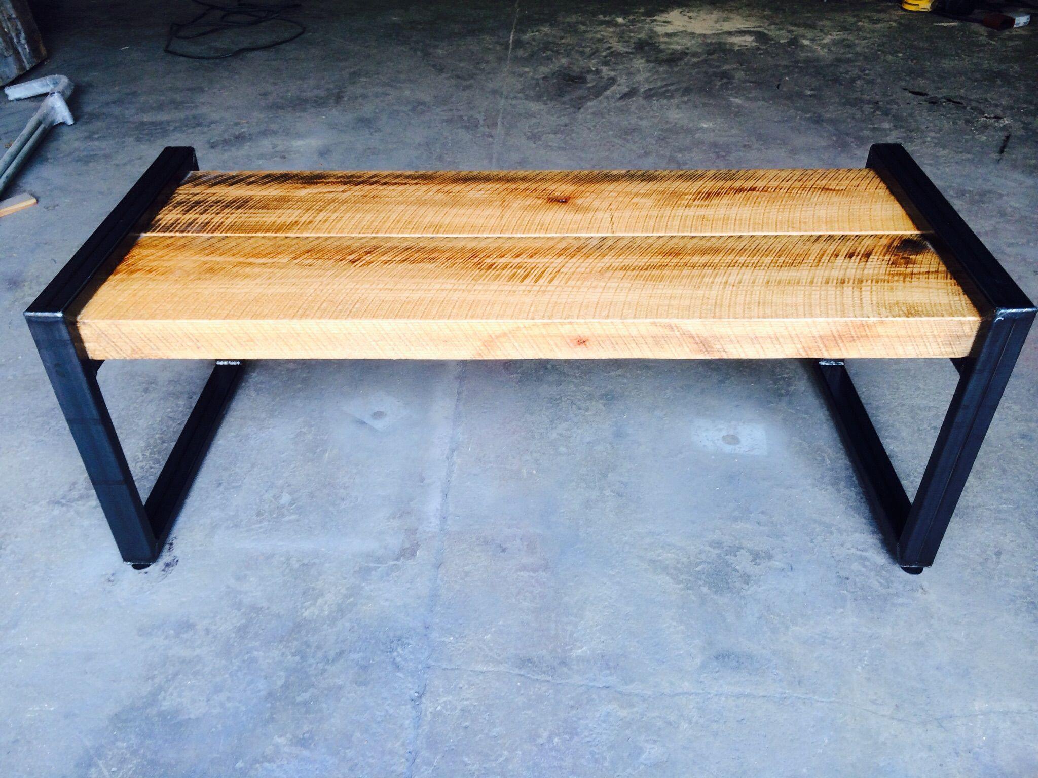 Custom Reclaimed Oak Beam Bench by Virginia Build Works | CustomMade.com