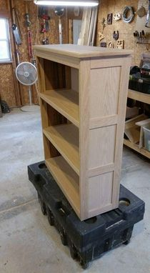 Custom Made Custom Oak Bookcase