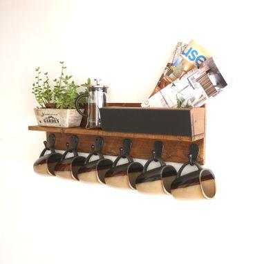 Buy A Handmade Rustic Wall Mounted Coffee Mug Rack With