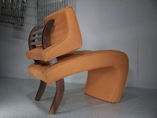 Custom Made Upholstered Orange Chair