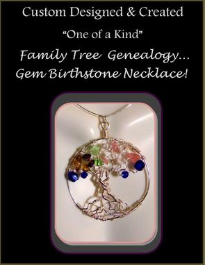 Buy a Hand Crafted Family Tree Necklace, Family Birthstone ...