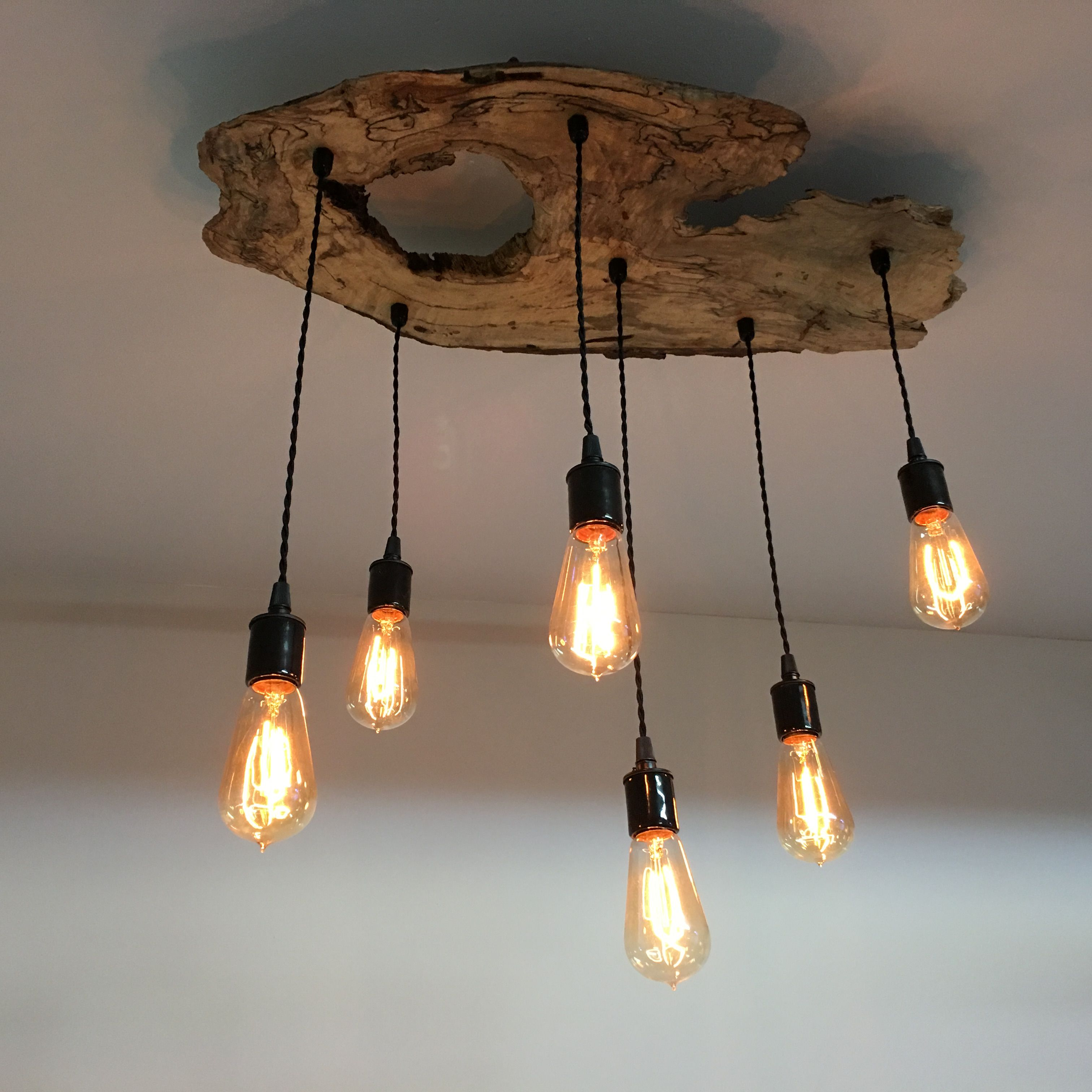 custom made medium live edge olive wood chandelier rustic and