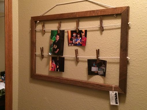 Custom Made Reclaimed Oak Clothespin Frame
