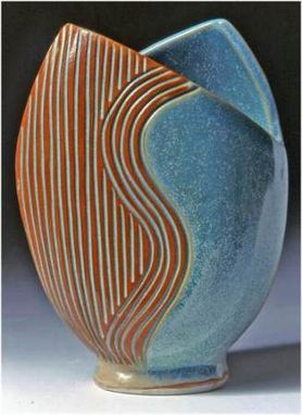 "Custom Made Oval Vase ~ 9"" High ~ $68"