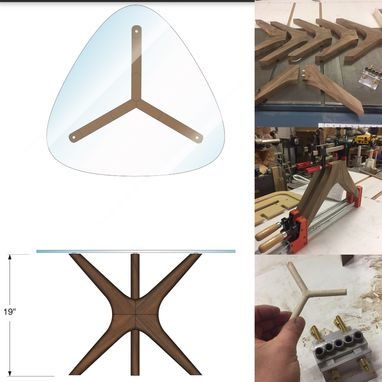Custom Made Tripod End Table
