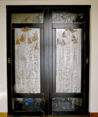 Custom Made Holly's Aspen Tree Closet Doors