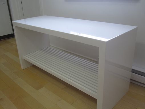 Custom Made High Gloss Slat Bench