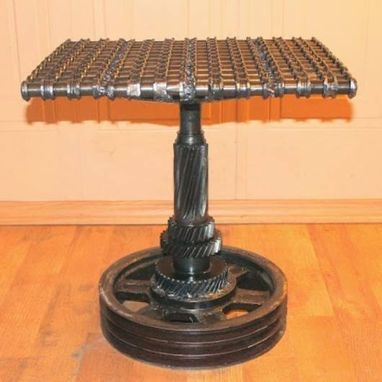 Custom Made Car Part Furniture Metal Side Table