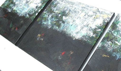 Custom Made Black Acrylic Abstract Landscape Painting Modern Art Original On Canvas
