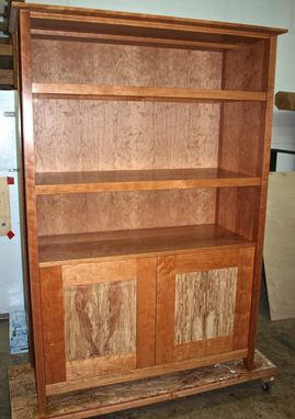 Custom Made Cherry & Spalted Maple Bookcase