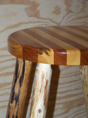 Hand Made Cedar Bar Stool By The Jack Pine Harry