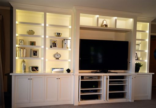 Custom Made Bedroom Cabinets And A/V Center