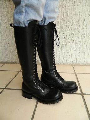 Handmade Custom Made To Order Ranger Lace Up Boot 20 Quot Tall