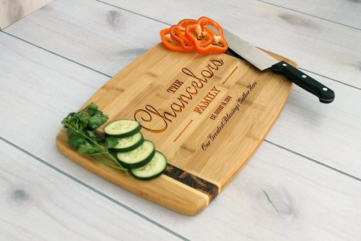 Custom Made Personalized Cutting Board, Engraved Cutting Board, Custom Wedding Gift –  Cb-Bamm-Chancelors