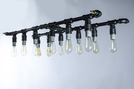 Custom Made Long Industrial Chandelier Lighting