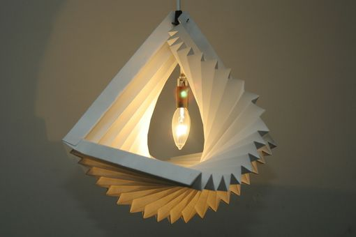 Custom Made Spiral Pleated Pendant Lamp