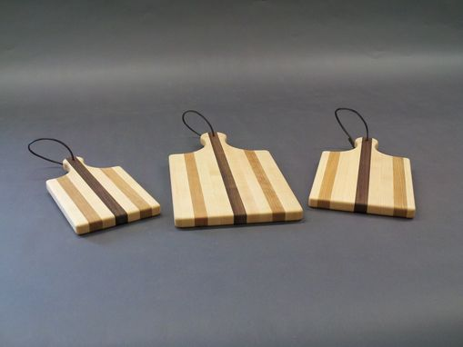 Custom Made Set Of 3 Wood Cheese Boards