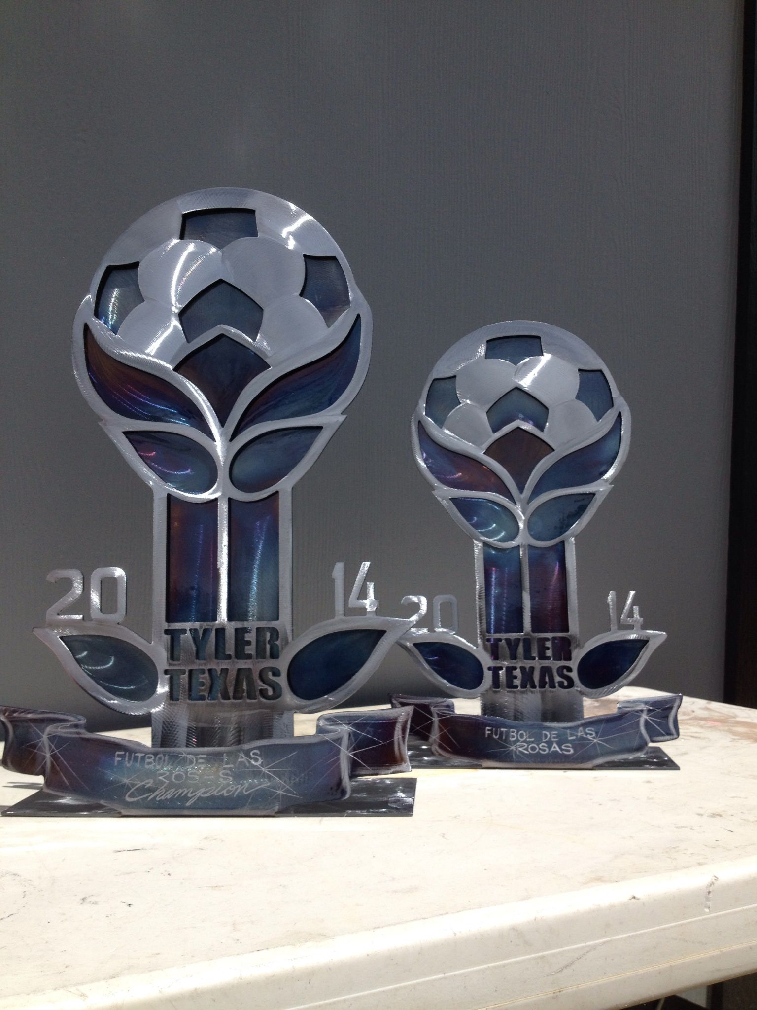 Hand Made Custom Trophies by Fusion Metal Artwork