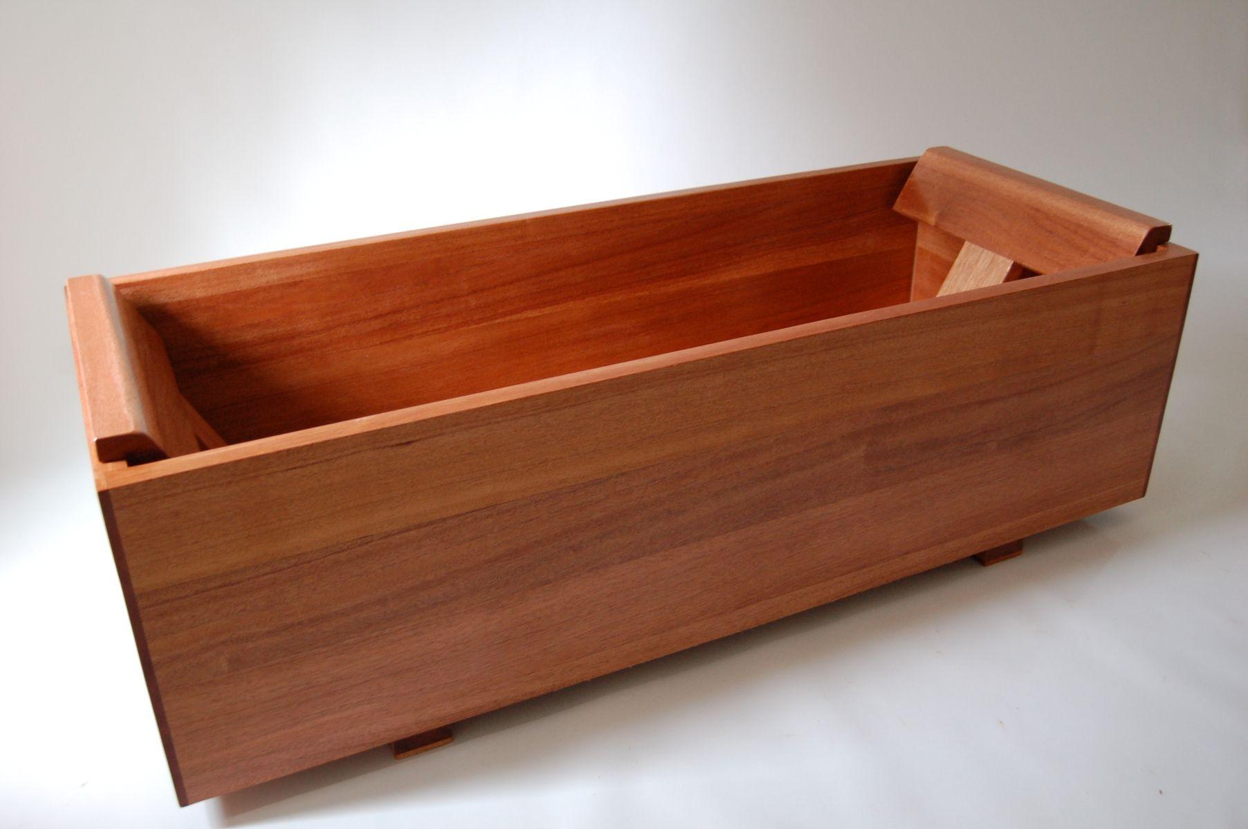Hand Crafted Ofuro Khaya Mahogany By Bath In Wood Of Maine Llc