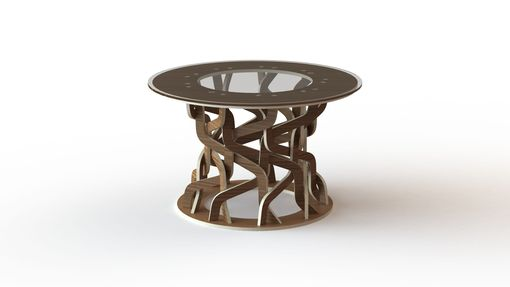 Custom Made Woven Hyperboloid Table