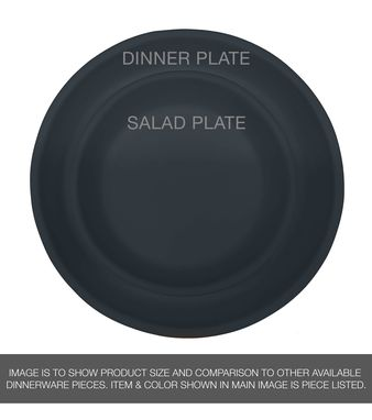 "Custom Made Usa Made Matte Porcelain Usa Made 10"" Dinner Plate- Black"