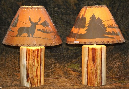 Custom Rustic Log Lamps By The Rustic Woodshop