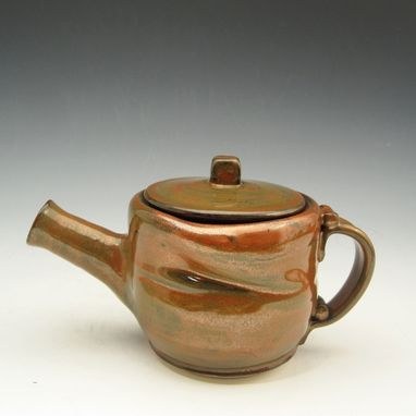 Custom Made Pottery Teapot For One - In Red