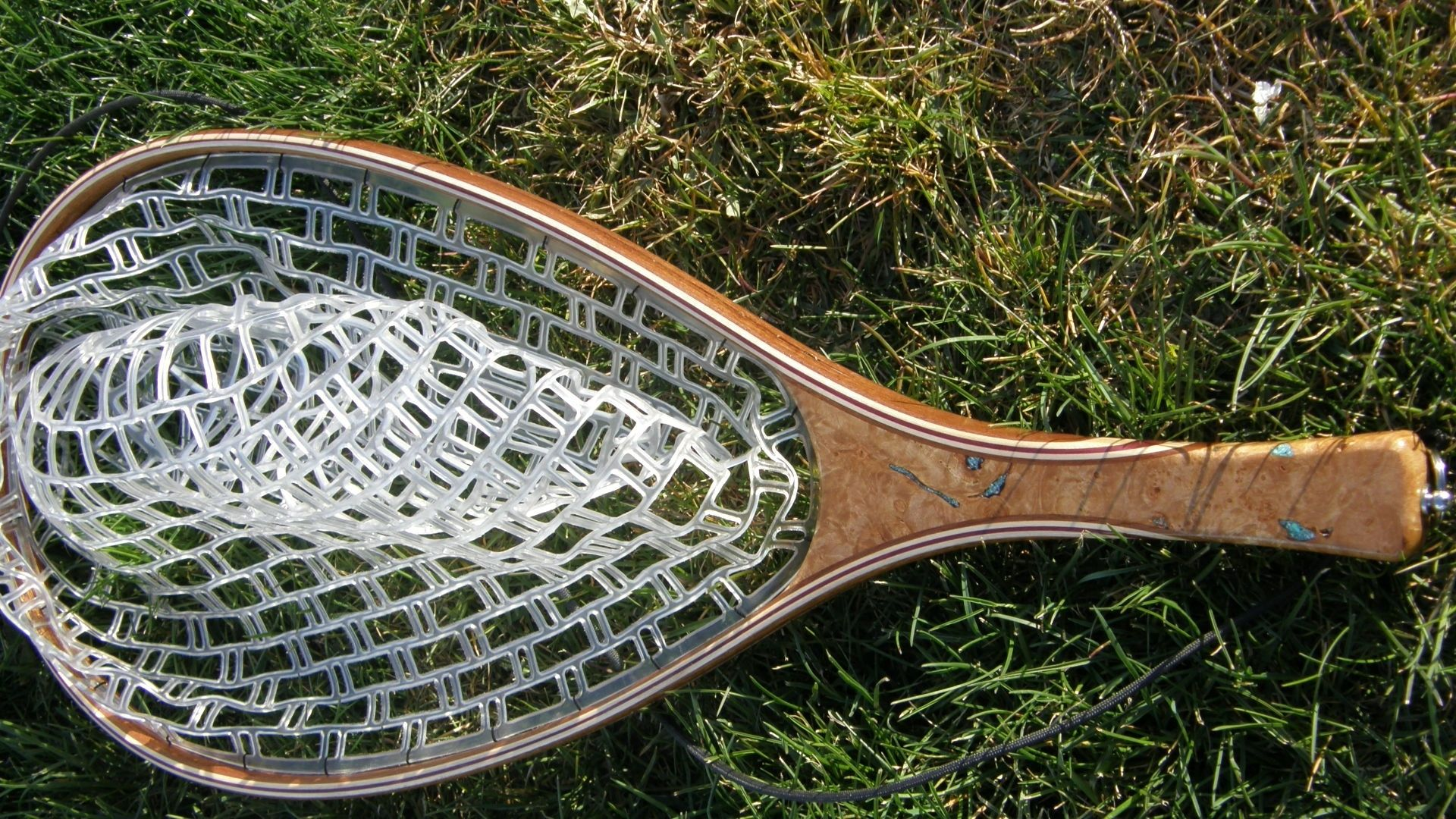 hand made fly fishing landing net by bitterroot net co, Fishing Reels