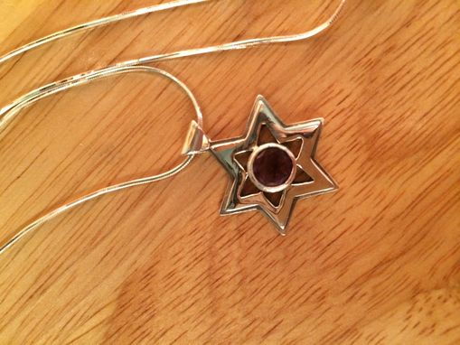 Custom Made Sterling Silver Star Of David Pendant