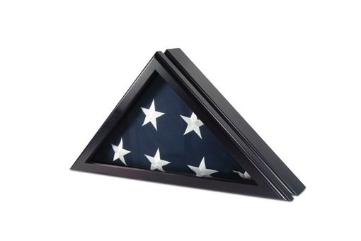Custom Made Flag Display Case For 5ft X 9.5ft Flag - Black Cherry