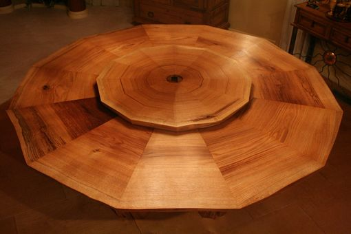 Custom Made Solid Slab 12 Sided Dining Table