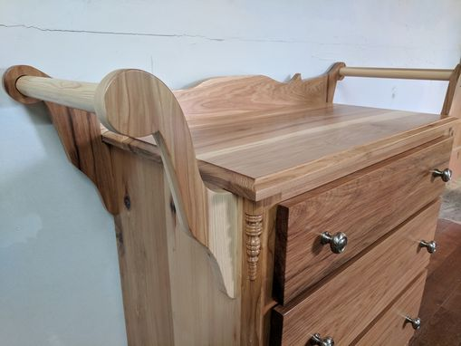 Custom Made 3 Piece Hickory Bathroom Set.