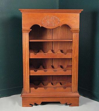 Custom Made Carved Mahogany Wine Cupboard