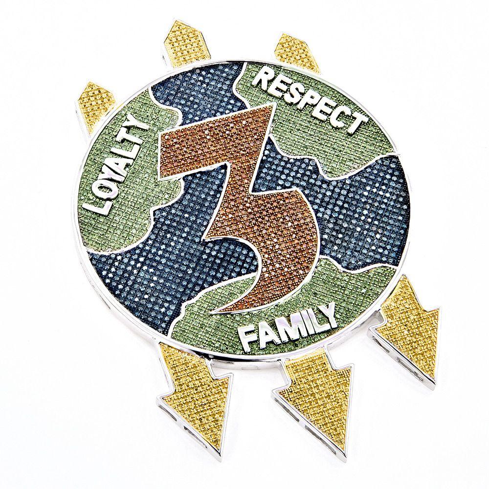 Custom made loyalty respect family diamond pendant by itshot custom made loyalty respect family diamond pendant biocorpaavc Images