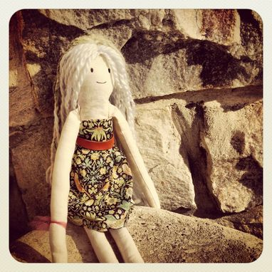 Custom Made Rag Doll With Liberty Of London Dress