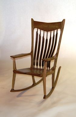 Custom Made Hand Sculpted Rocking Chair