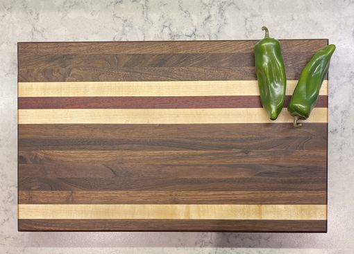 Custom Made Solid Wood Edge Grain Cutting Board Walnut, Maple, Cherry, Canary Woods