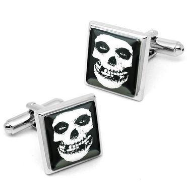 Custom Made Misfits Crimson Skull Horror Punk Sterling Silver Cufflink Set 179-Ssc