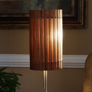 Nate voss noend designs llc atlanta ga slatewood razor wood lamp shade sapele by aloadofball Images