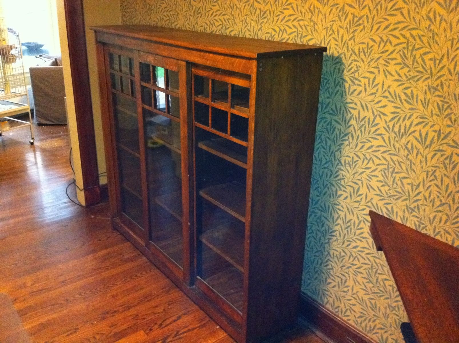 Handmade Arts And Crafts Corner Cabinet Desk And