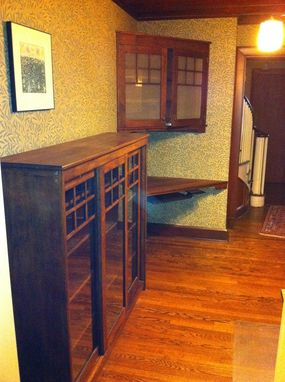 Custom Made Arts And Crafts Corner Cabinet, Desk, And Workstation