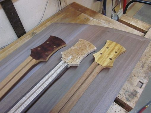 Custom Made 4 String Electric Bass Guitar Curly Ambrosia Maple