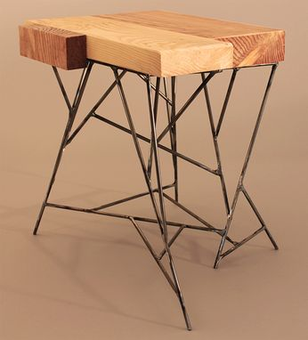 Custom Made Salvaged Wood Side Tables