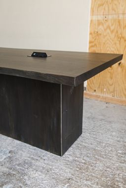 Custom Made Steel Plinth Conference Table